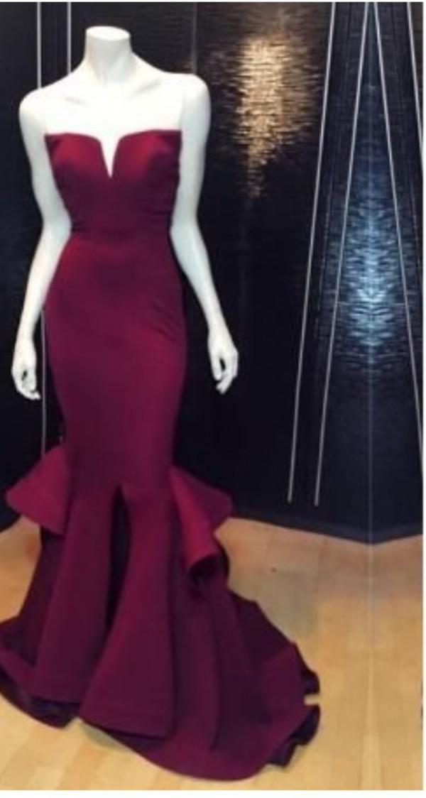 Dress Prom Dress Red Dress Mermaid Prom Dress Dark