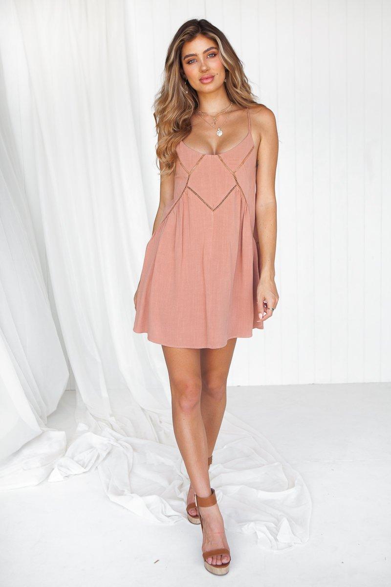 Heart Whisper 2.0 Dress (Dusty Rose)