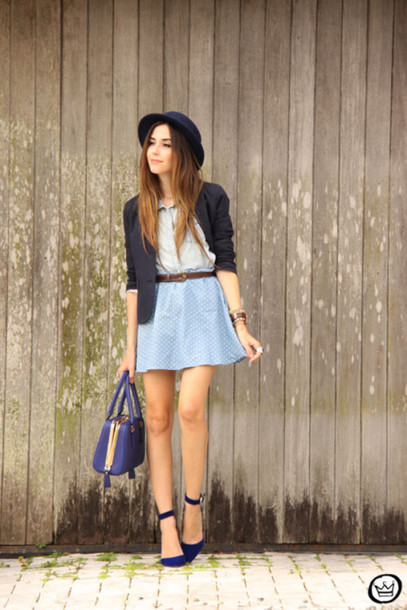 fashion coolture blogger skirt jacket bag hat jewels shoes