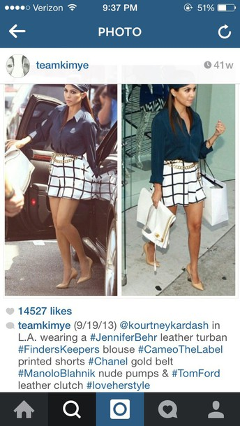 skirt kourtney kardashian checkered