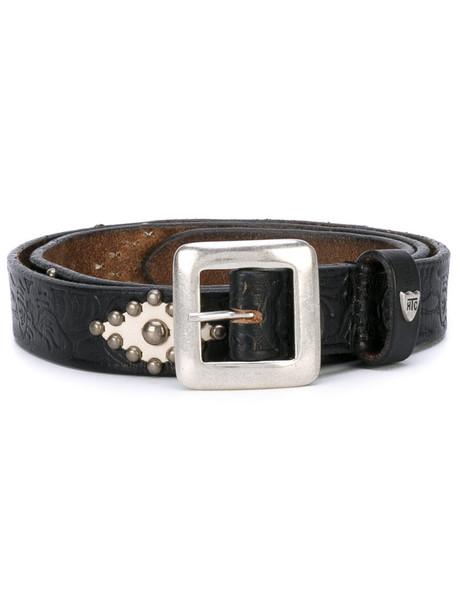 rock women belt leather brown
