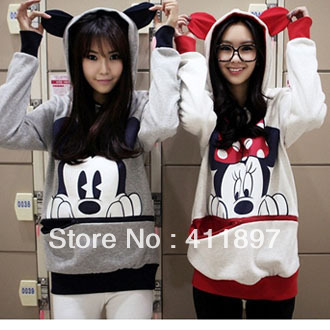 M XL Good quality Mickey Mouse Loose Big Pocket Top rabbit ear plus size sweatshirt hooded cartoon pullover Holiday Sale 79-inHoodies & Sweatshirts from Apparel & Accessories on Aliexpress.com