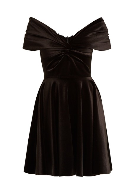 Emilio De La Morena dress velvet dress velvet black