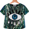 Sequined eye pattern t-shirt