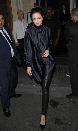 blouse top kendall jenner all black everything pumps