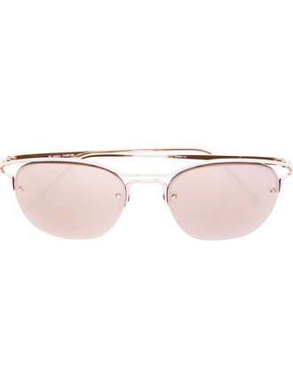 rose gold rose women sunglasses gold grey metallic