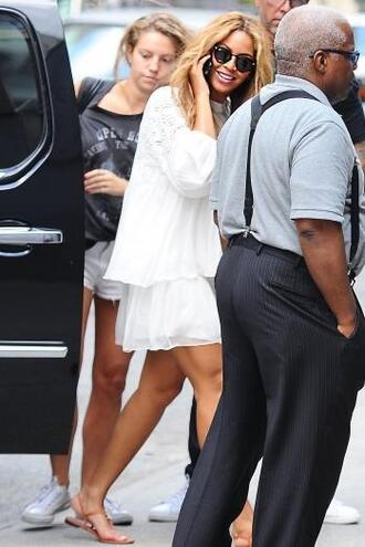 skirt top blouse sandals beyonce summer outfits two piece dress set two-piece white all white everything
