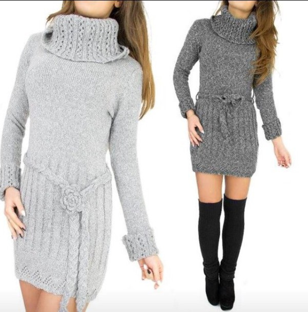 sweater grey knitted sweater