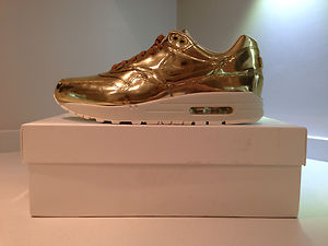huge discount eb7c3 50a58 ... australia nike womens air max 1 am1 sp tz liquid metal gold atmos rare  ebay 9d933