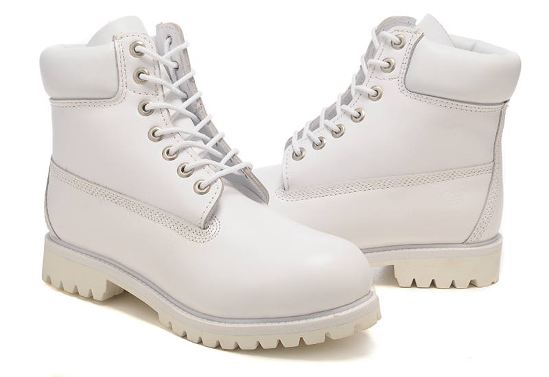 Cheap Timberland 6 Inch Premium Waterproof Boots Mens All White Huge