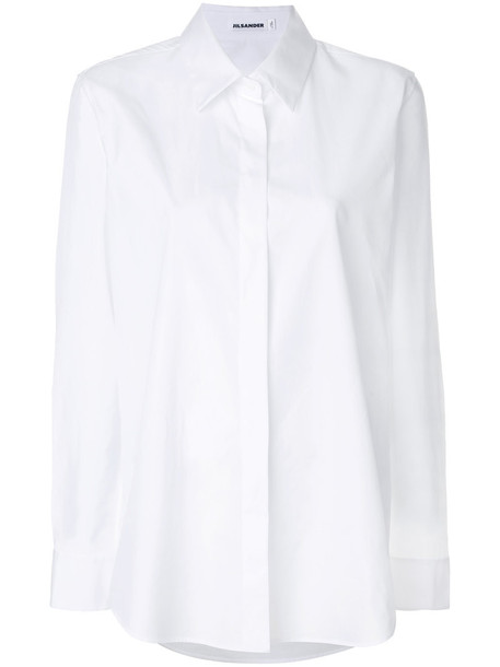 Jil Sander shirt women white cotton top