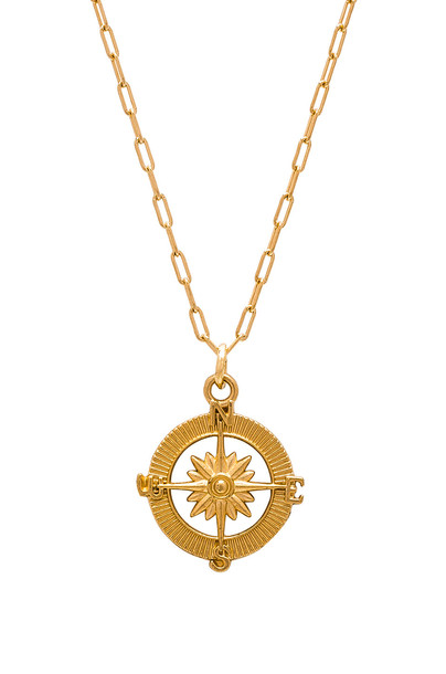 joolz by Martha Calvo Destiny Compass Necklace in gold / metallic