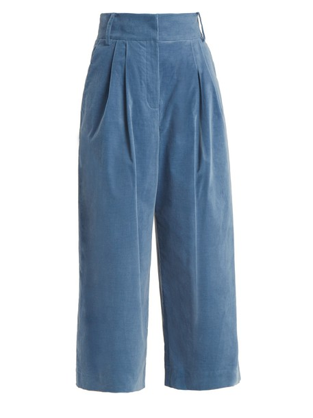 Tibi cropped blue pants
