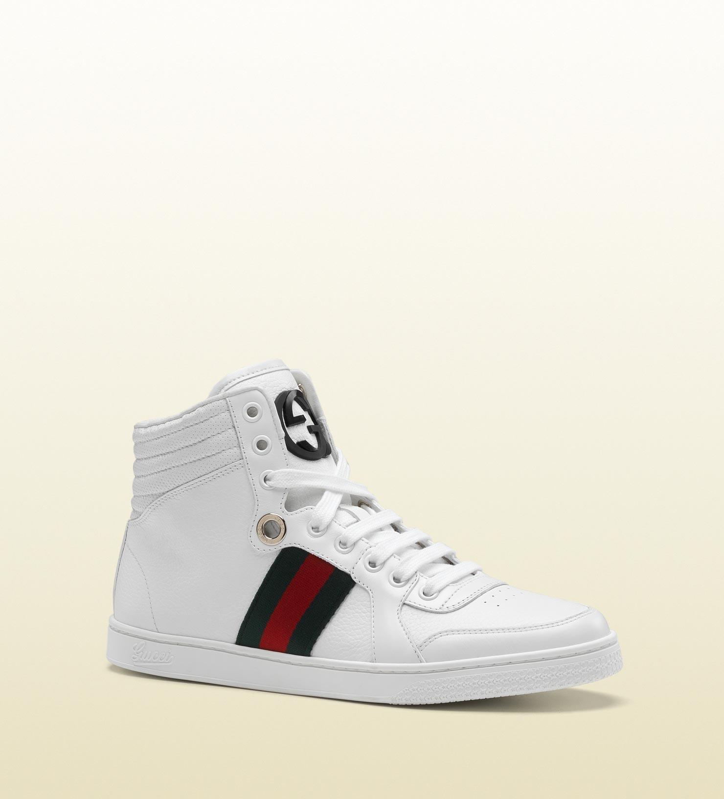 gucci coda hitop sneaker with interlocking g and