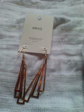 jewels gold mango earrings