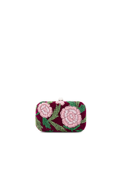 From St Xavier rose clutch purple bag