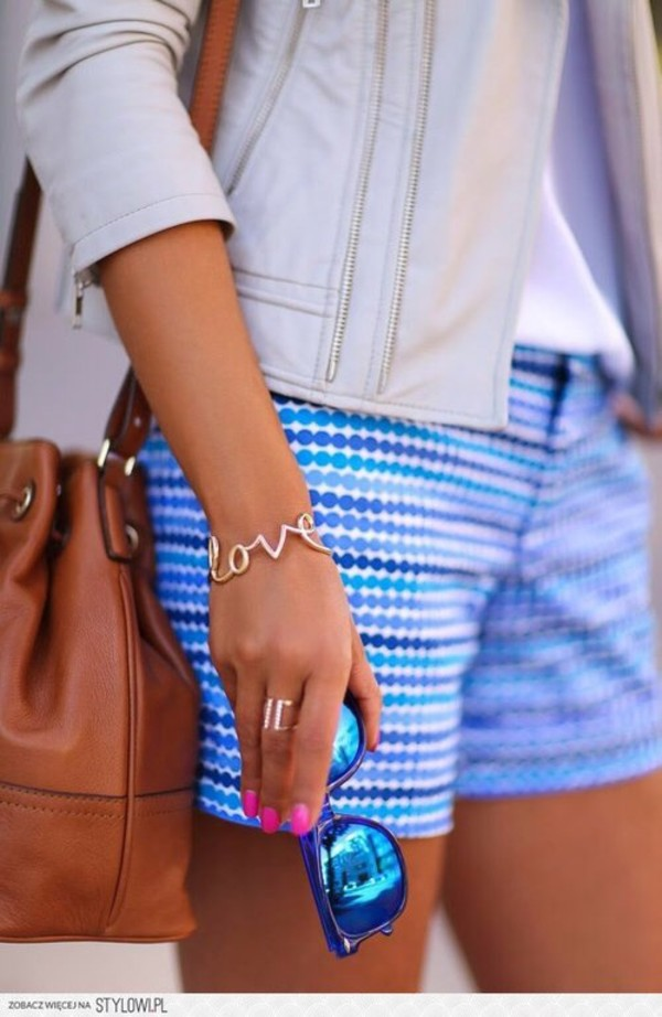 shorts jacket jewels bag