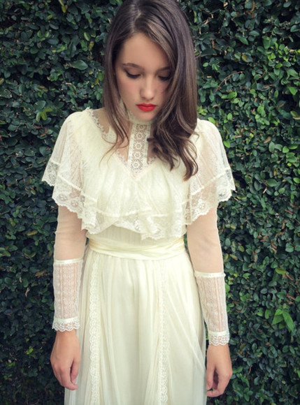 lace dress vintage wedding dress vintage hipster wedding
