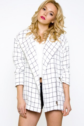 Tweed Checker Jacket- $86