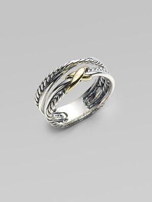 David Yurman - Sterling Silver & 18K Yellow Gold Ring - Saks.com