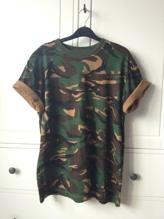 t-shirt clothes man clothes camouflage camo tee shirt fashion camoflauge clothes shopoholic clothes from tumblr roll-up clean look needed helpmefindthis
