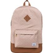 bag,polka dots,brown bottom,herschel supply co.,backpack,cute backpack,herschel backpack