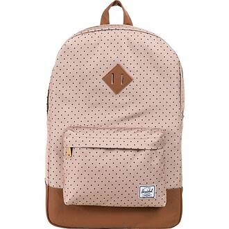 bag polka dots brown bottom herschel supply co. backpack cute backpack herschel backpack