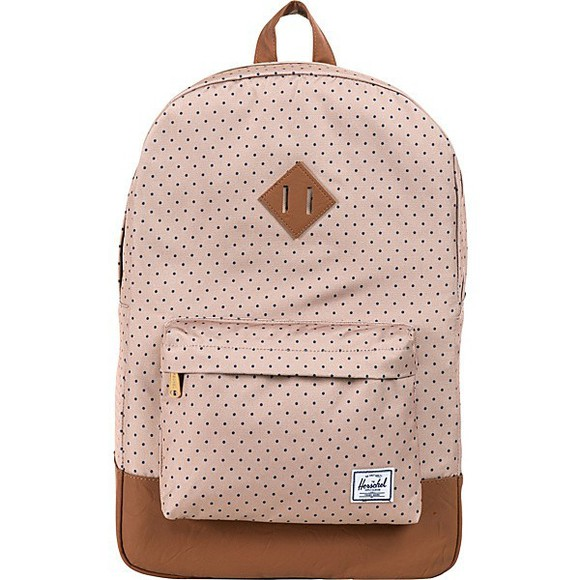 backpack bag polka dots brown bottom herschel supply co. cute backpack herschel backpack