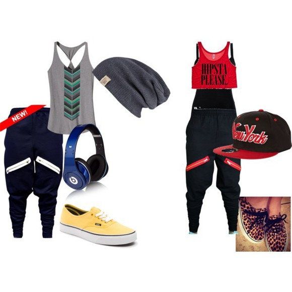 pants jogging beats by dr dre rouge noir crop tops