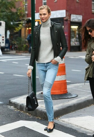 jeans streetstyle fall outfits karlie kloss