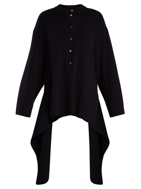 Stella McCartney sweater draped cotton navy