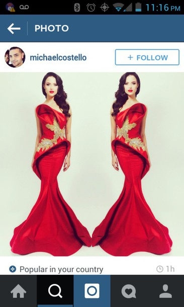 dress red dress long dress