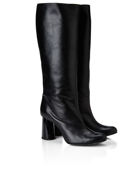 Carven long boots leather black black leather