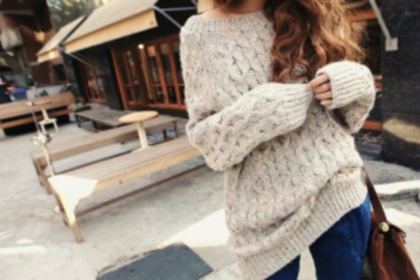 Sweater: cozy, oversized sweater, bag, pants, clothes, hipster ...