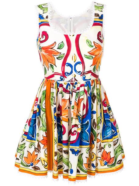 Dolce & Gabbana dress print dress women floral white cotton print