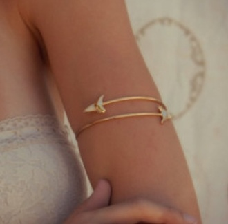 jewels bracelets arm cuff gold hippie jewelry fossil tooth