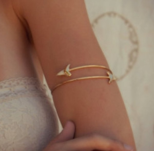 jewels bracelets Arm Cuff gold hippie hippie jewelry fossil tooth