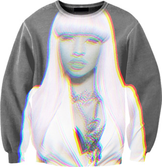 sweater black white sweatshirt nicki minaj grey printed sweater