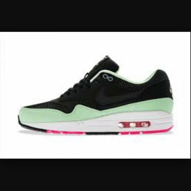 shoes nike shoes black shoes mint green shoes pink shoes