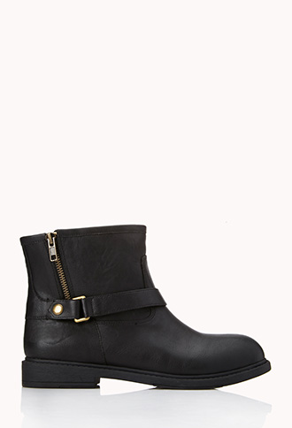 On-The-Edge Buckled Booties | FOREVER21 - 2000126553