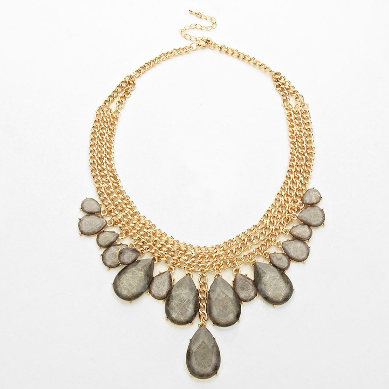 Gray Teardrop Necklace · Oh So Fancy · Online Store Powered by Storenvy