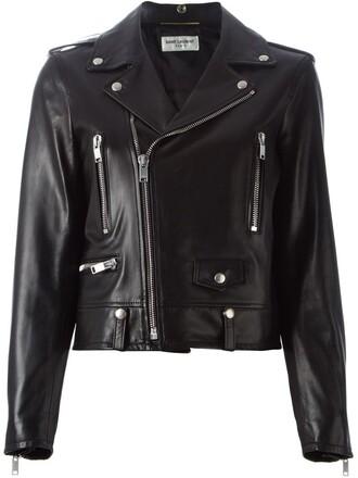 jacket biker jacket women classic cotton black