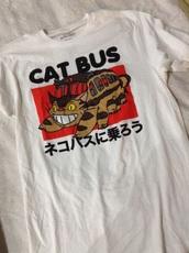 t-shirt,totoro,cat bus,japanese,cat bus shirt,anime,shirt,totoro shirt