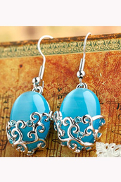 jewels,light blue,silver earrings