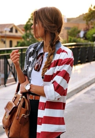 blouse american flag