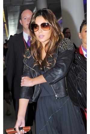 Doma leather studded shoulder jacket