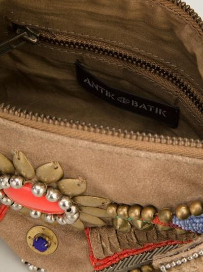 Antik Batik Embellished Clutch -  - Farfetch.com