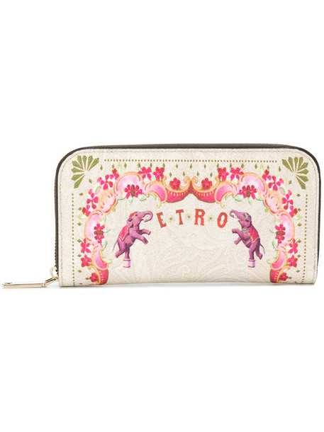 ETRO women purse nude cotton print bag