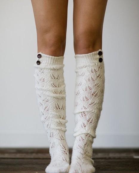 socks ivory boot cuffs