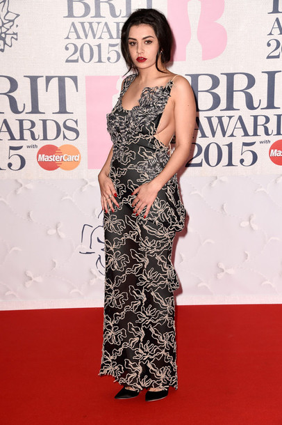 dress gown maxi dress charli xcx brit awards 2015